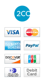 Accepting 2Checkout, PayPal and major credit and debit cards
